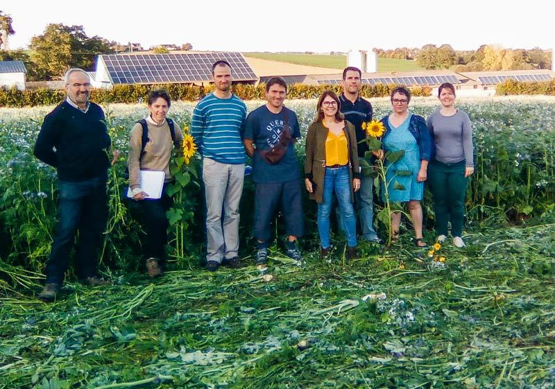 La parcelle en agriculture de conservation des sols, à Essé, a été visitée le 14 octobre.