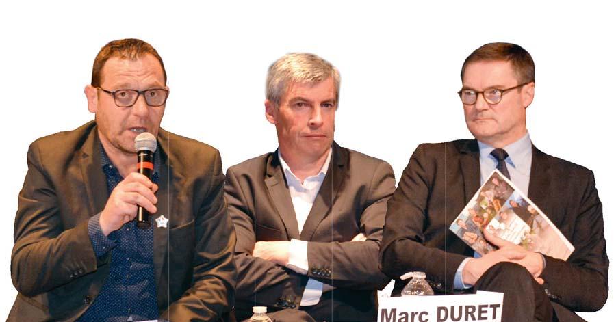 De gauche à droite : François Valy, Olivier Allain et Marc Duret.