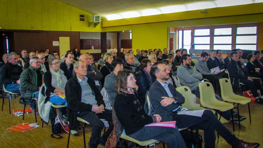 Le thème « Organisation du travail: quelles stratégies? » a été présenté dans les 18 assemblées locales de Cerfrance Côtes d'Armor, comme ici à Merdrignac, le 30 janvier.
