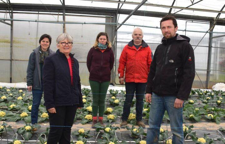 Marie-Claire Adam (au premier plan) s'est entourée d'une équipe dynamique et compétente : Céline Jacq, Marion Quillet, Hervé Prat et Simon Mernet.