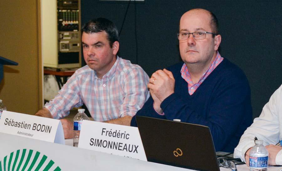 Frédéric Simonneaux, président de la section Fermiers de la FDSEA, Sébastien Bodin, représentant FDSEA à la Safer