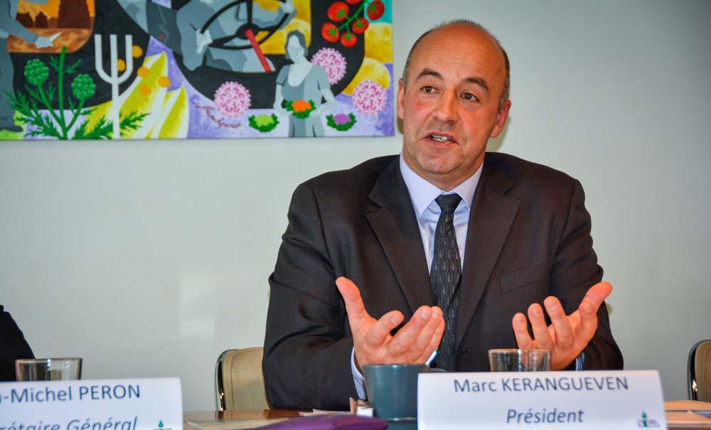 Marc Keranguéven, président de la Sica Saint-Pol-de-Léon.