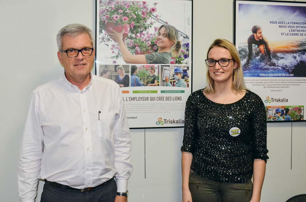 FrédéricSoudon, directeur des ressources humaines, et MarineKermarrec, adjointe à la gestion prévisionnelle des emplois et des compétences, à Triskalia.