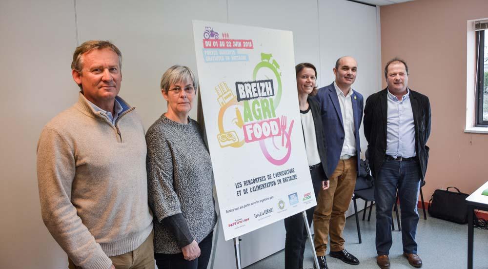 Les représentants des différentes organisations ont présenté le programme de Breizh Agri Food, qui se tiendra du 1er au 22 juin.