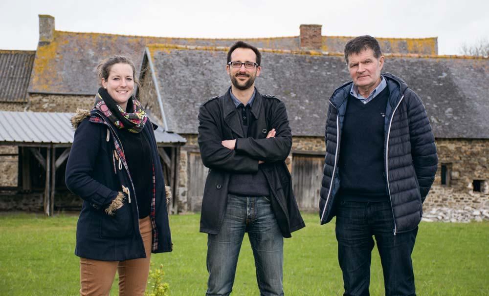 Lénaïg Déniel et Charles David, conseillers, acompagnant jean-Jacques René, élu à la Chambre d'agriculture de Bretagne.