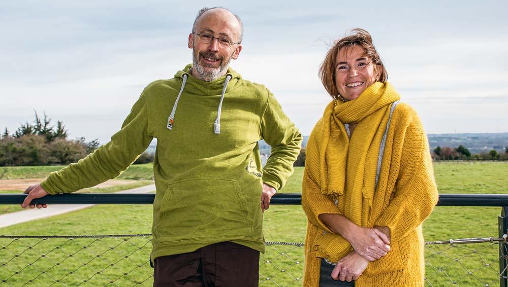Yann Yobé, paysan-boulanger à Saint-Alban, et Claire Orieux, maraichère de Tréméreuc, respectivement administrateur et présidente du Gab 22.