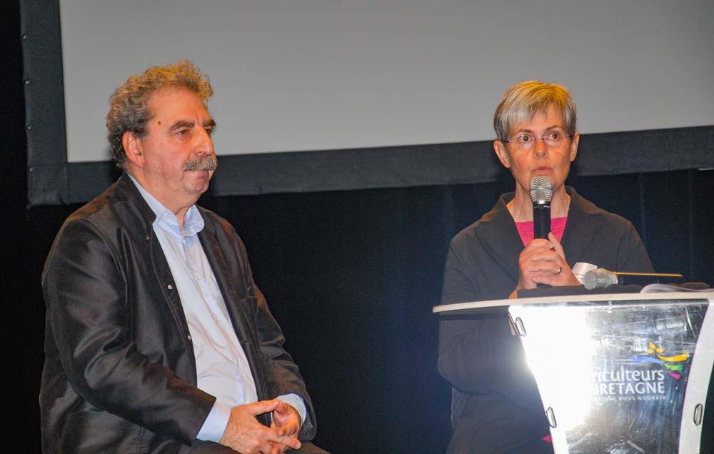 Danielle Even, présidente d'Agriculteurs de Bretagne, avait invité le philosophe Francis Wolff pour parler de «L'utopie animaliste».