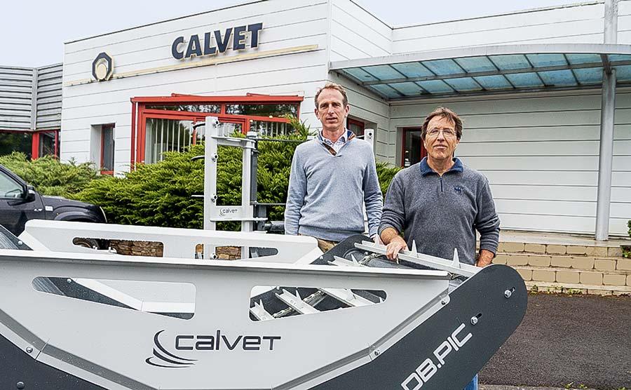 A gauche Régis Legendre, Président de Lucas G et Calvet à droite Gilles Calvet, Directeur Général de Calvet.