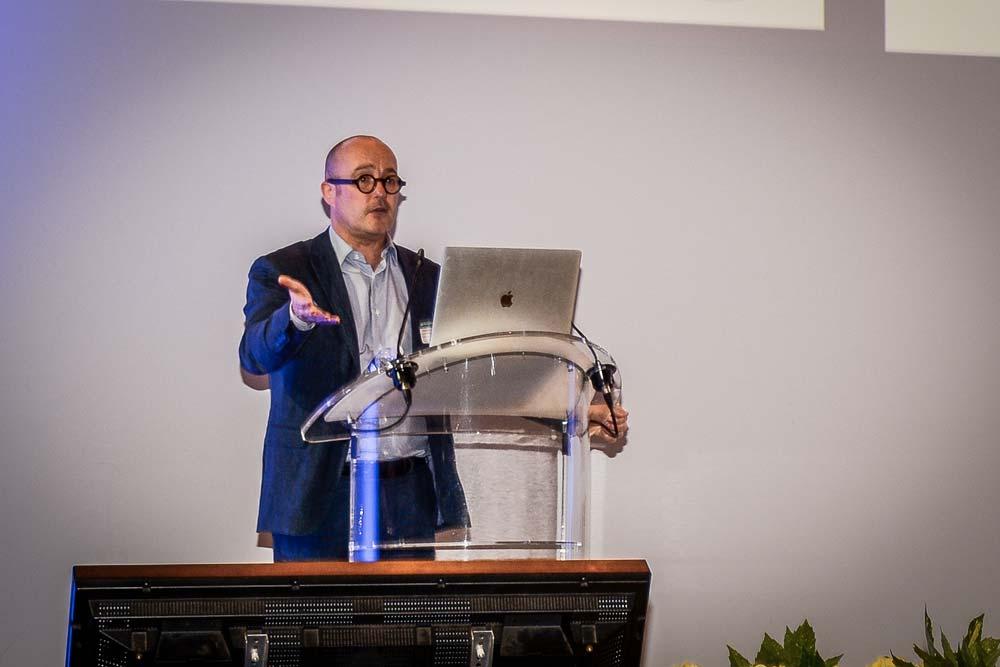 Stéphane Cordobes, directeur du bureau de la prospective au commissariat général à l'égalité des territoires, invité à l'assemblée générale des MSA Portes de Bretagne, vendredi 1er juin, à Guer (56).