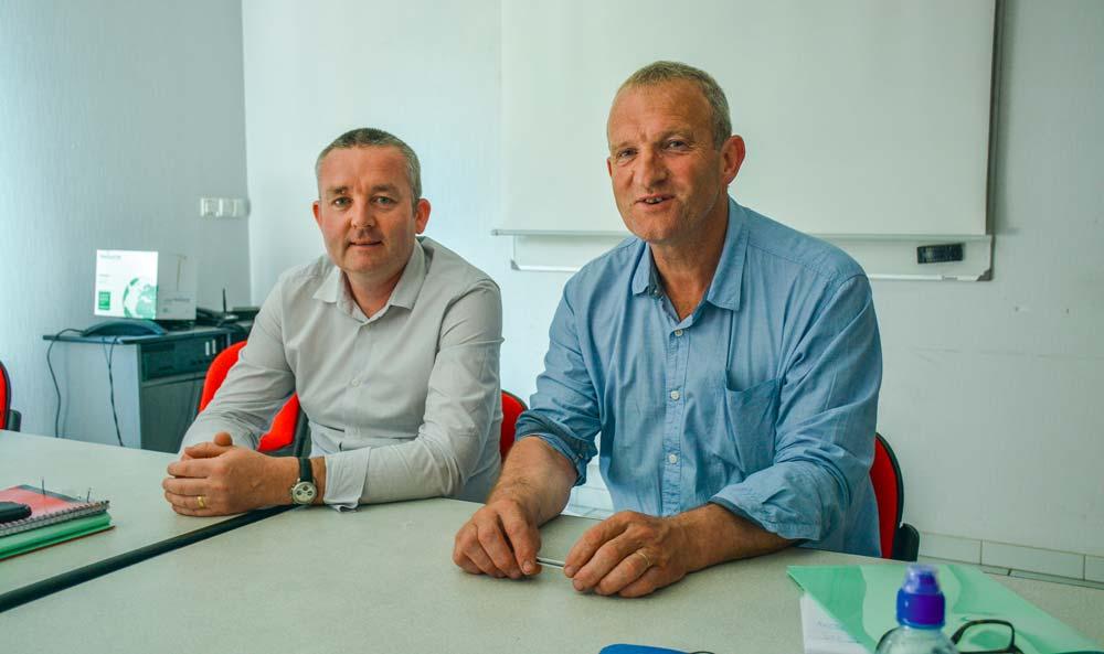 Pierrick Corlay, président du Mol (à droite), et Didier L'Herrou, directeur.