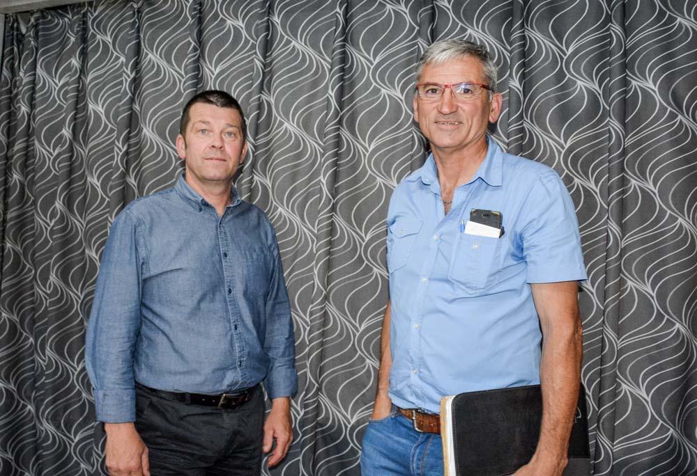 Thierry Duval, président d'Elvea Bretagne (à gauche), et Christian Chevalier, vice-président (collège acheteurs).