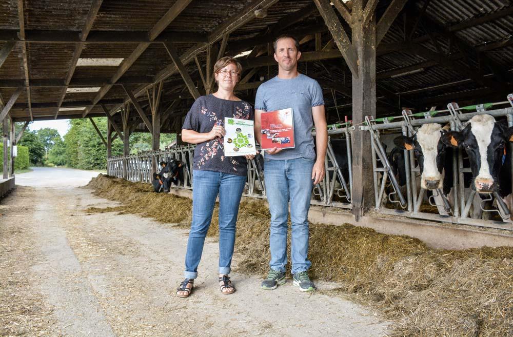 Julien Collin, agriculteur et sapeur-pompier, et Pascale Martin, directrice de SR 35.