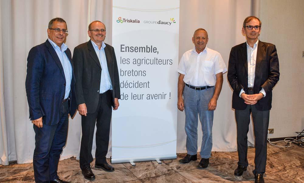 De gauche à droite : Dominique Ciccone, Serge Le Bartz, Georges Galardon et Alain Perrin.