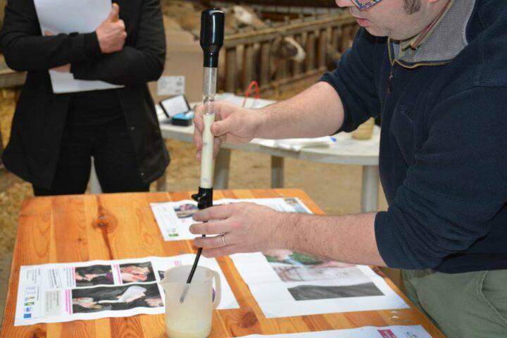 Le pèse-colostrum et le réfractomètre permettent de mesurer la richesse du colostrum.