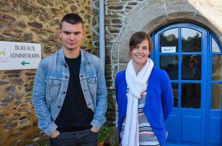 Aurélien Brouazin et Lydiane Juste,   Coordinatrice de la formation