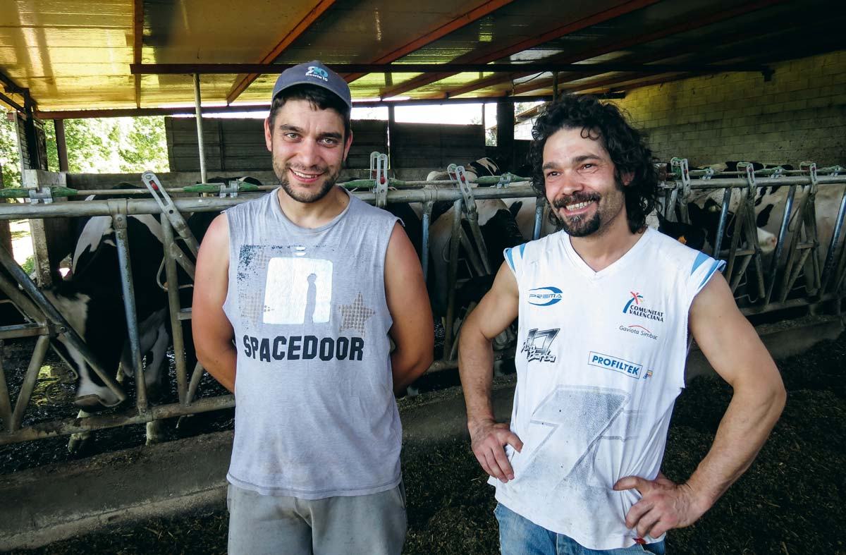 David Tojo est chargé des cultures, alors que Juan Manuel Cesar s'occupe de l'élevage sur leur exploitation de 50 VL.