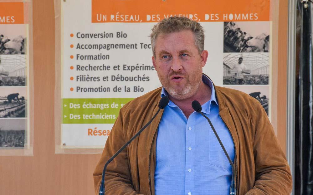 Guillaume Riou, président de la Fnab et polyculteur-éleveur bio dans les Deux-Sèvres.