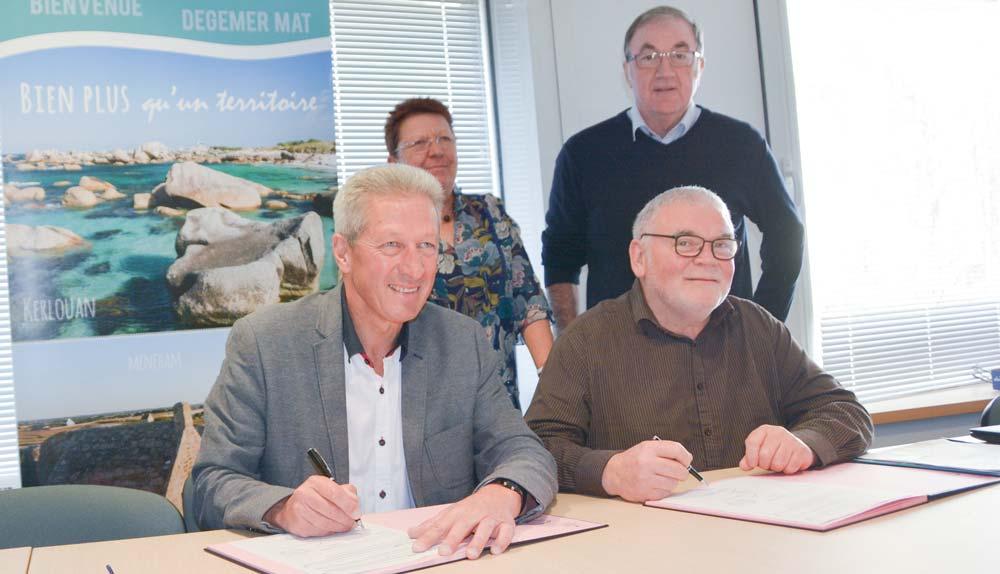 La convention-cadre a été signée mardi dernier, entre La Communauté Lesneven Côte des Légendes et la Chambre d'agriculture.