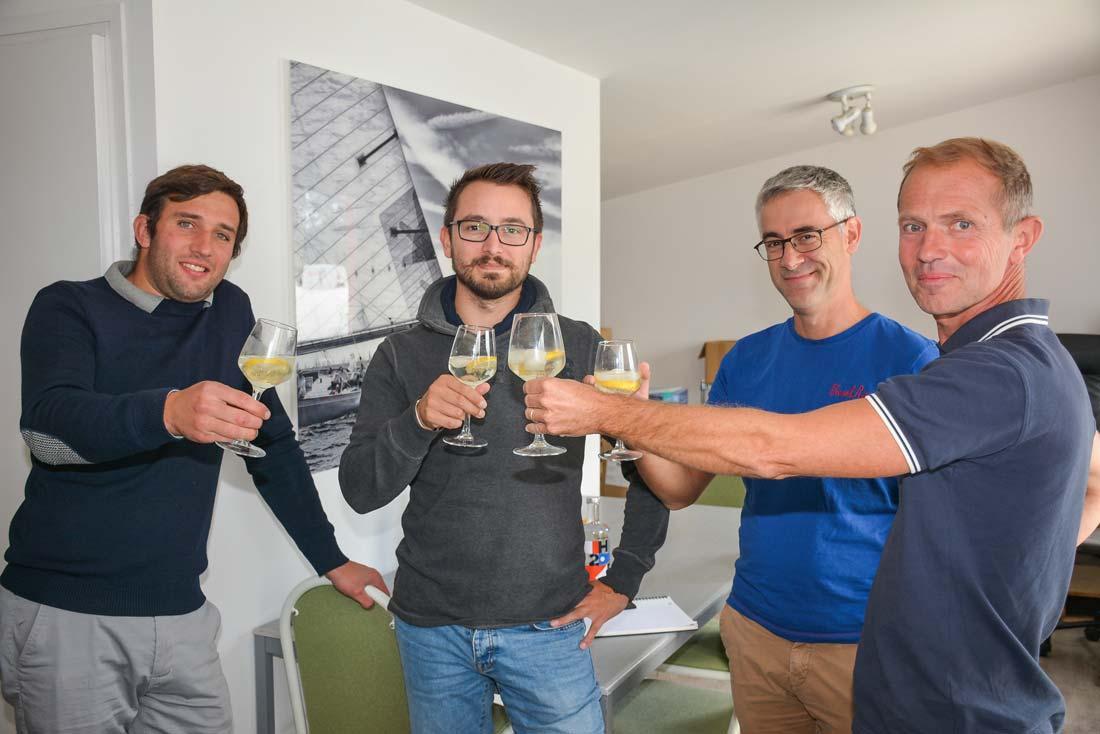 Henri Goldschmidt, Bertrand Patin, Yves Gambart de Lignières (collaborateur) et Bertrand de Lantivy.
