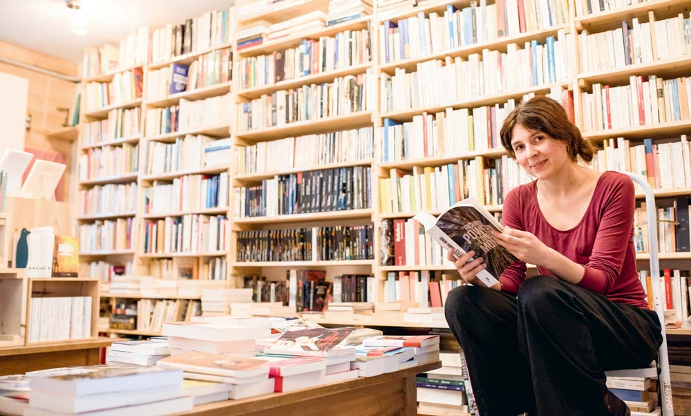 Élise Feltgen a ouvert son café – librairie le 14 septembre dernier.