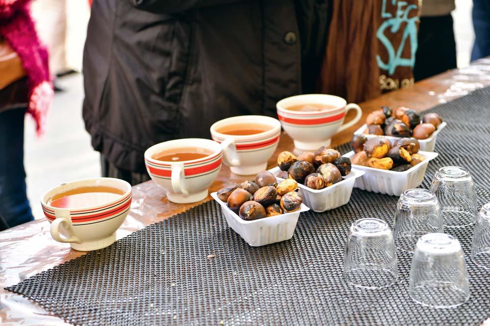 Marrons grillés et bolées de cidre à la Foire Teillouse.