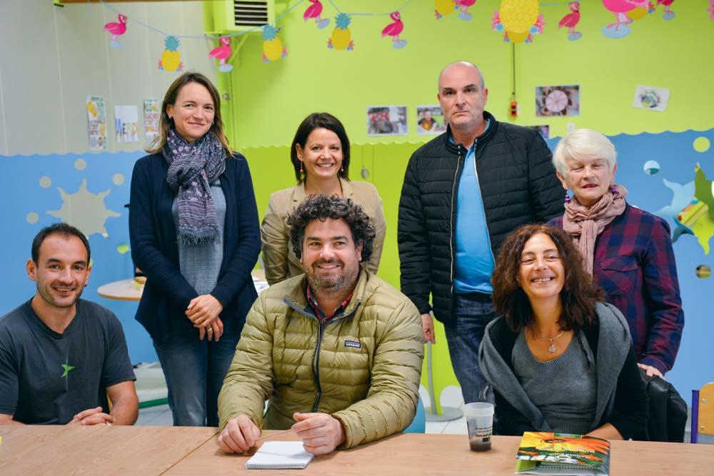 Des représentants de la Chambre d'agriculture et du Gab participaient à la rencontre avec les élus, les gestionnaires et les cuisiniers du Pays d'Auray, à Belz.