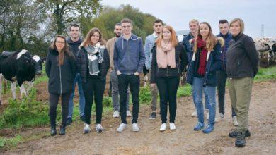 Photo of Les salariés alternants en visite à la ferme