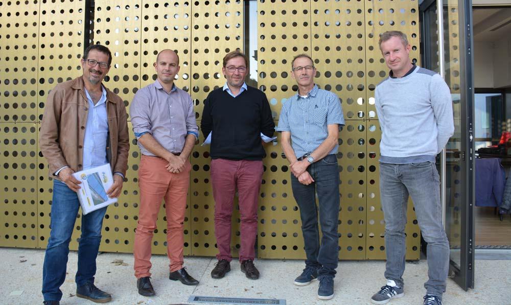 Laurent Moréac, Apepha ; Simon Ondet, Solewa ; Mickaël Feuildet, Belenn Ingénierie ; Pascal Chaussec, Apepha ; Régis Le Carluer, Chambre d'agriculture.
