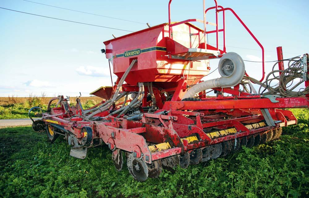 Le semis de céréales a été réalisé directement sur le couvert, le 30 octobre.