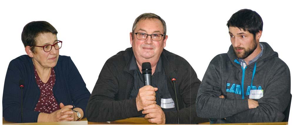 De g. à dr. : Denise et Jean-Louis Betton, Bastien Granger .