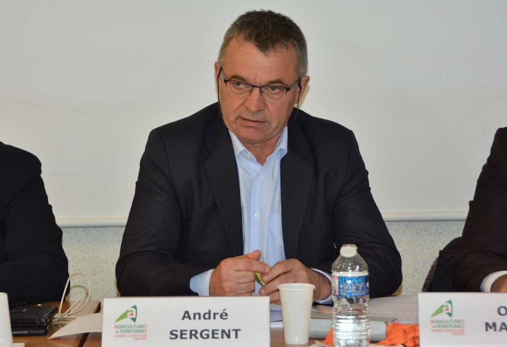 « La demande sociétale va jusqu'à mettre en doute la qualité des produits de notre agriculture et de notre agroalimentaire », estime André Sergent.