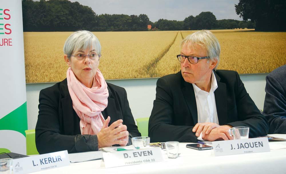 Danielle Even, présidente de la Chambre des Côtes d'Armor, et Jacques Jaouen, président de la Chambre régionale, tournent la page en janvier prochain.