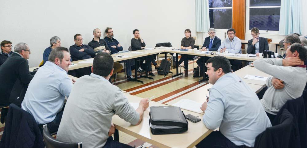 L'entrevue s'est déroulée au centre de formation de Saint-Ségal, lundi 10 décembre.