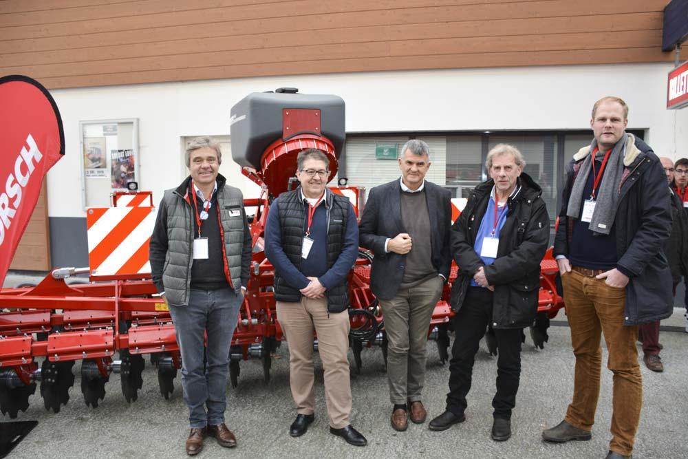 Robert Dorsemagen, directeur Horsch France ; Yann Parois, directeur général Promodis ; Michaël Horsch, P.-D.G. de Horsch ; Joachim Blunk, gérant de la plus grosse ETA allemande.