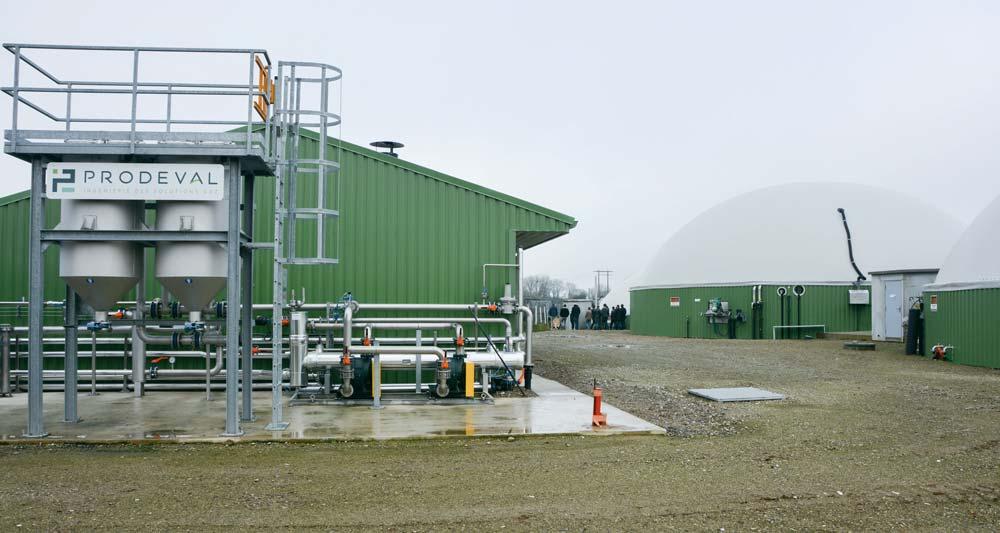La matinée s'est poursuivie par la visite de l'unité de production du Gaec de l'Avel à Milizac-Guipronvel (29), qui injecte du bio-méthane dans le réseau depuis juin 2018.