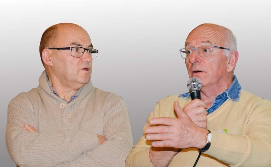 Jean-Yves Denis, à gauche, et Michel Nogré.