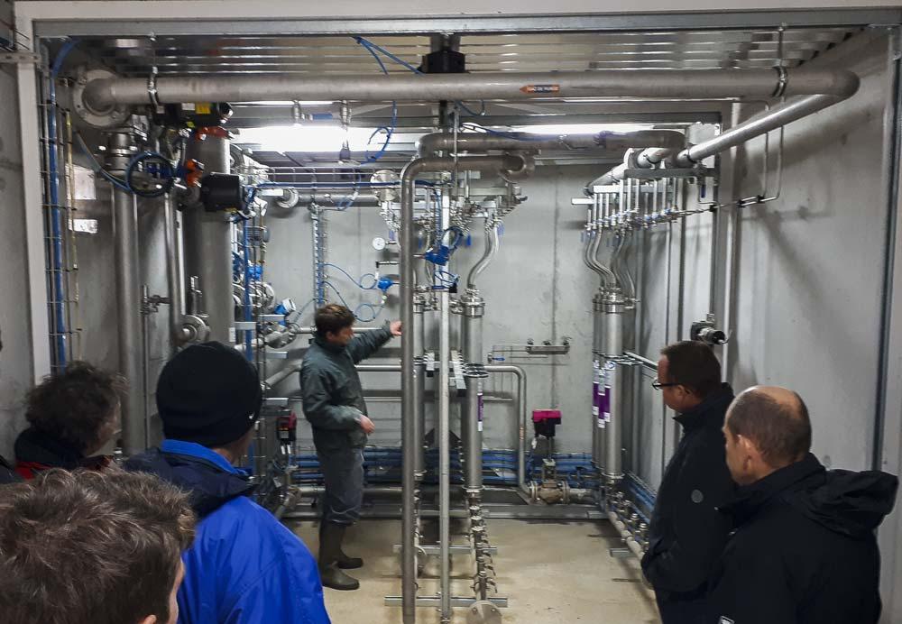 Le local abritant les membranes de purification du biométhane.