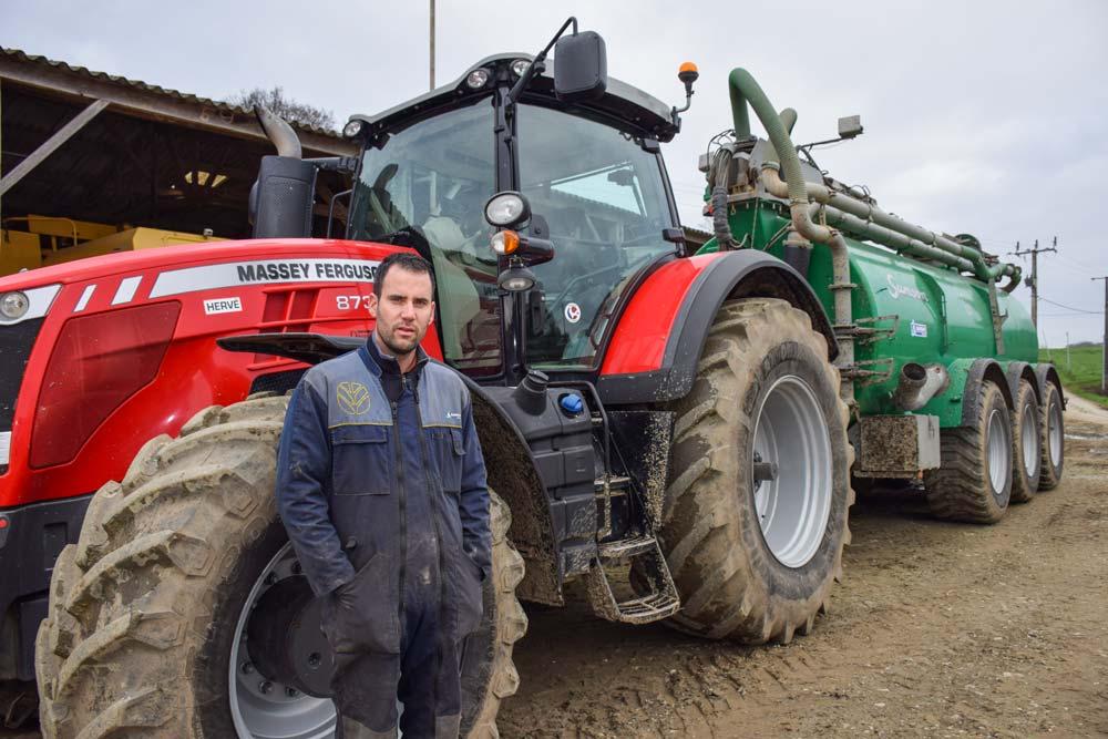 Jérémie Perrée, entrepreneur de travaux agricoles à Ploubalay, a choisi d'étoffer sa prestation de services en proposant de l'épandage sans tonne. Le nouvel équipement devrait être livré dans les prochains jours.