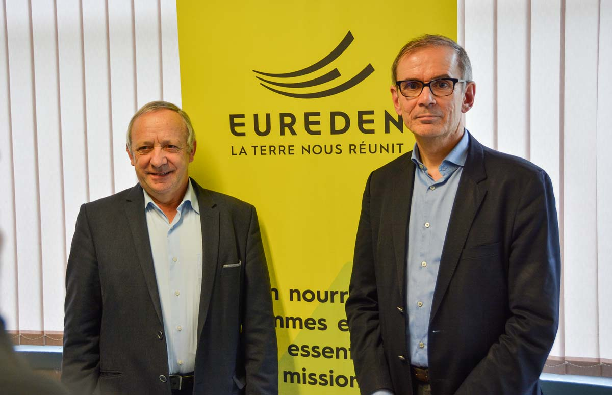 Georges Galardon et Alain Perrin ont présenté le nouveau nom du rapprochement Triskalia-d'aucy.
