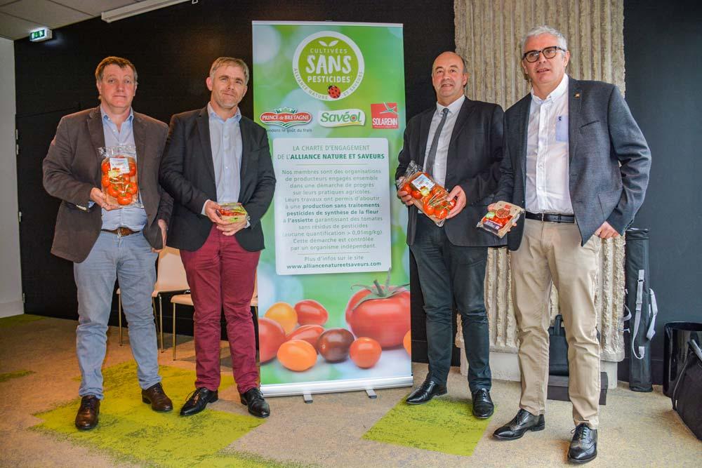 De gauche à droite : Gilbert Brouder, Pierre-Yves Jestin, Marc Keranguéven et Christophe Rousse.