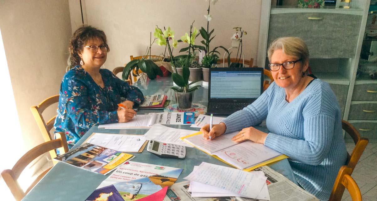 Évelyne Malœuvre (à gauche) et Maryline Brûlé (à droite).