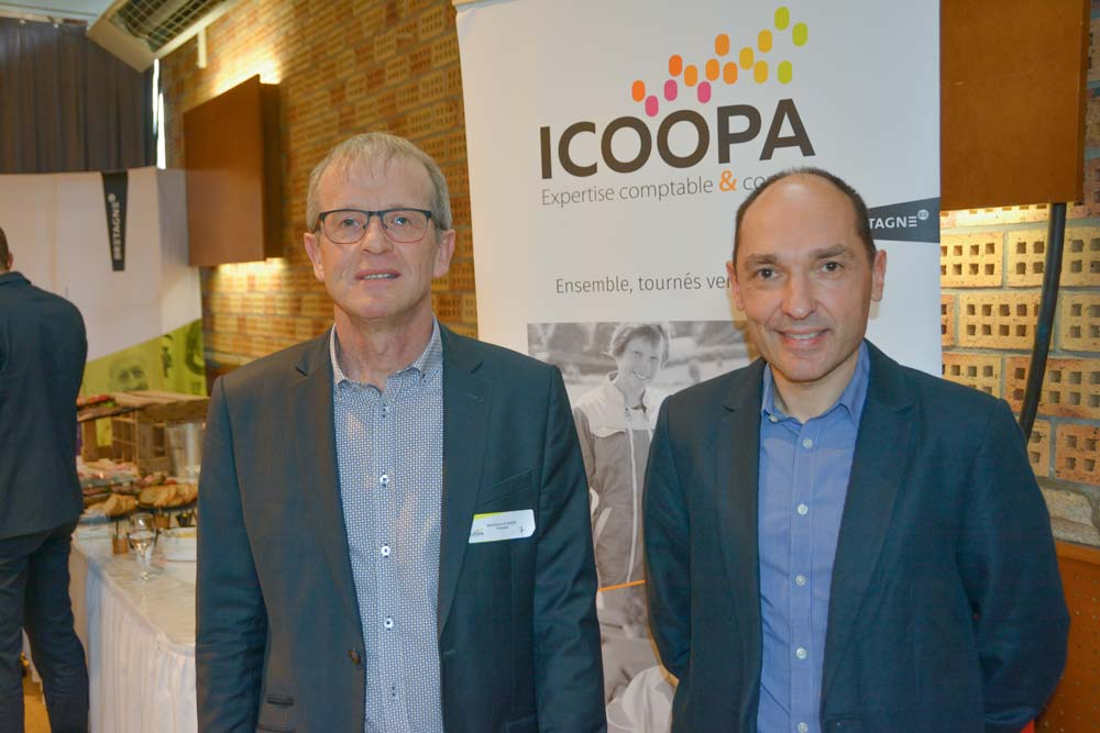 De gauche à droite, Dominique Le Dantec, président d'Icoopa, et Ronan Moalic, directeur.