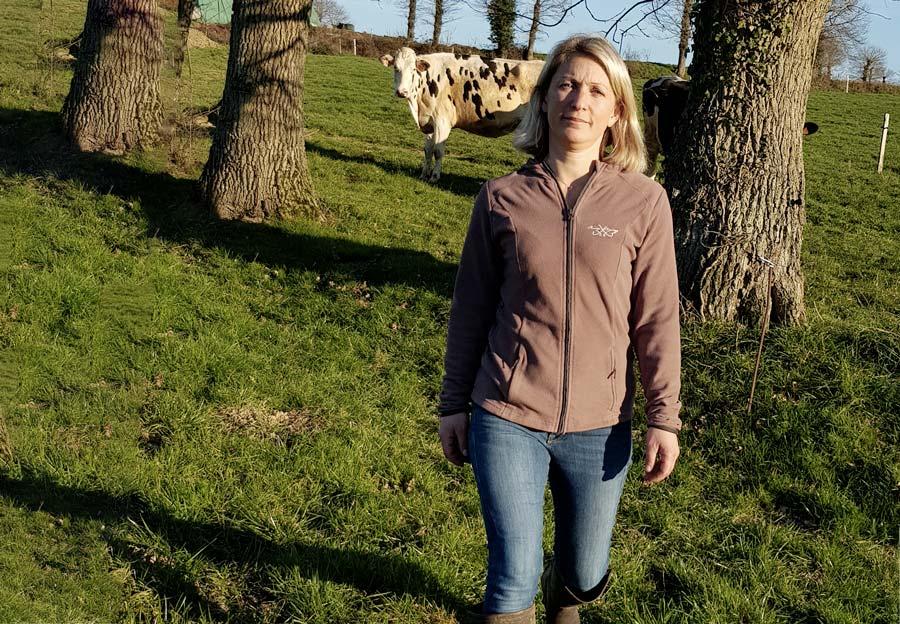 Katell Guays, agricultrice à Saint-Malon-sur-Mel (35)