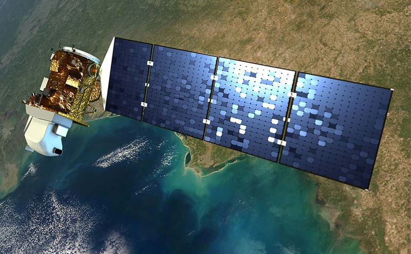 Un satellite Sentinel permet l'acquisition des images.