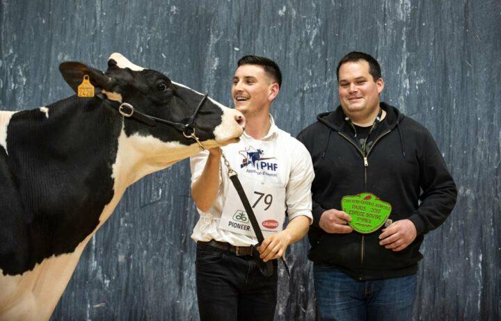 Le Dorze Lolita (Mccutchen x Zelgadis), au Gaec Le Dorze à Plumelin (56), rapporte un Premier prix de section chez les 2e lactation ainsi que le titre de Championne jeune.