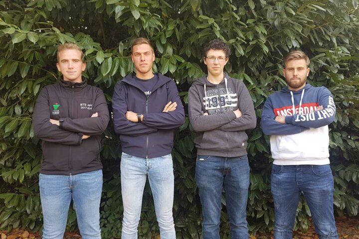 Romain Le Cadre, Maxime Ronceray, Didier Guéguen et Mathis Garnier, étudiants au lycée la Touche à Ploërmel (56).