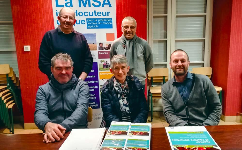 Les élus MSA d'Armorique des secteurs de Uzel et Mûr-de-Bretagne proposentune conférence gratuite et ouverte à tous sur la nutrition et l'équilibre alimentaire au Quillio.