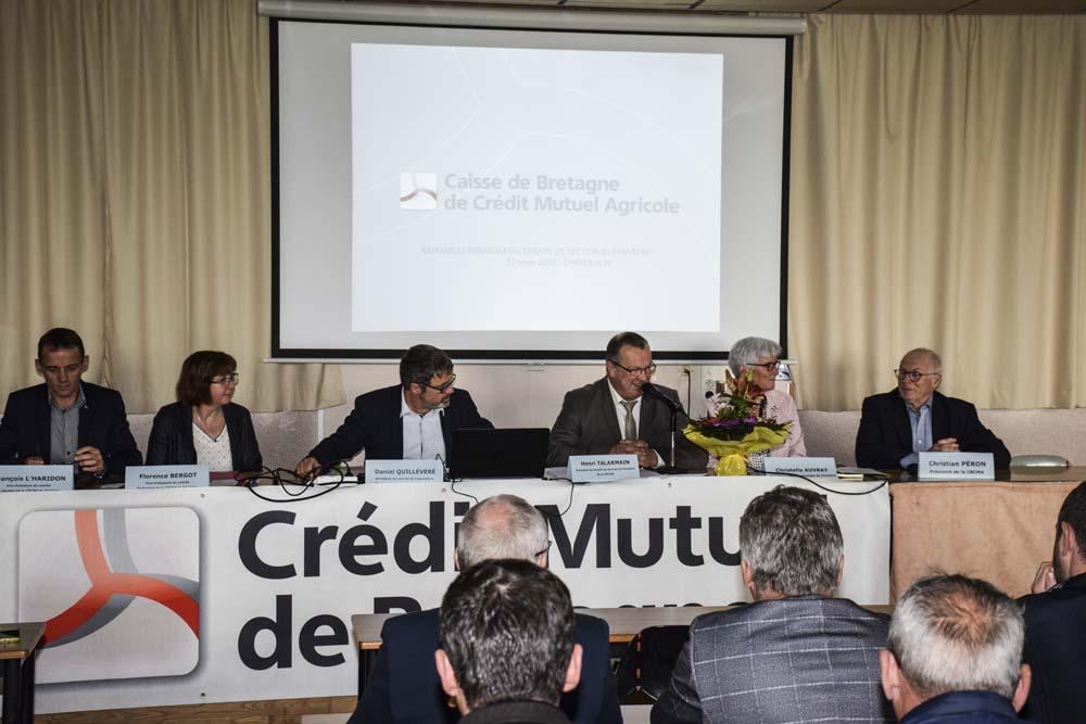 L'assemblée générale de la section finistérienne de la Caisse de Bretagne de Crédit Mutuel Agricole s'est tenue récemment à Châteaulin.