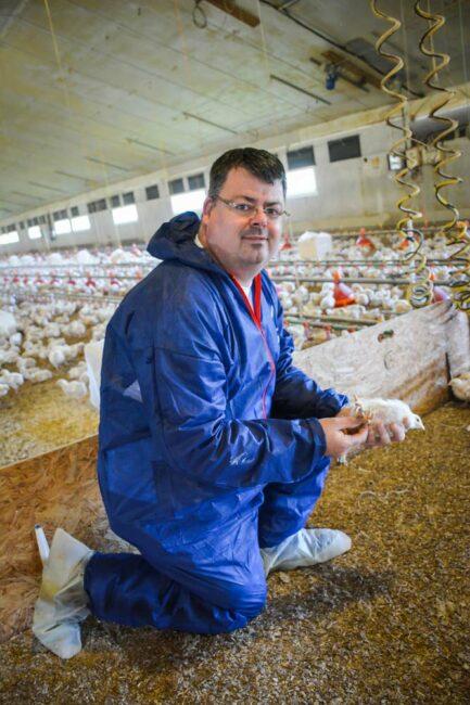 David Labbé, aviculteur  à Plourivo (22)