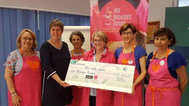 """Photo of D'aucy : Remise d'un don de 10.000 euros à l'association """"Les Blouses Roses"""""""